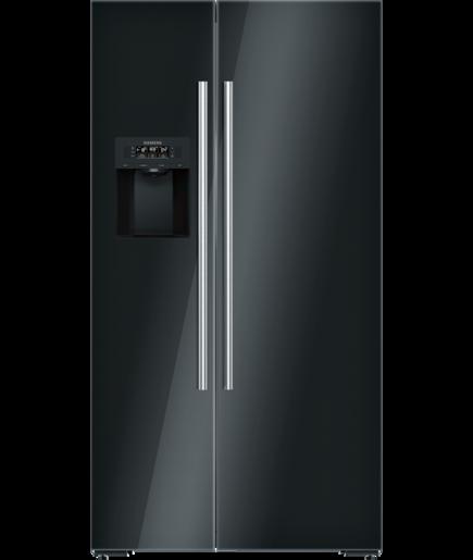 Kühl-Gefrier-Kombination side by side Türen schwarz - iQ700 ...