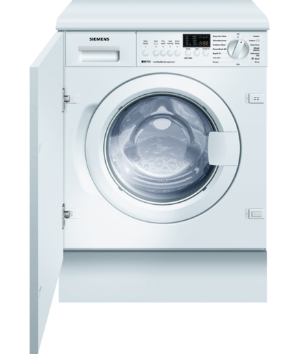 front loading automatic washing machine fully integrated iq700