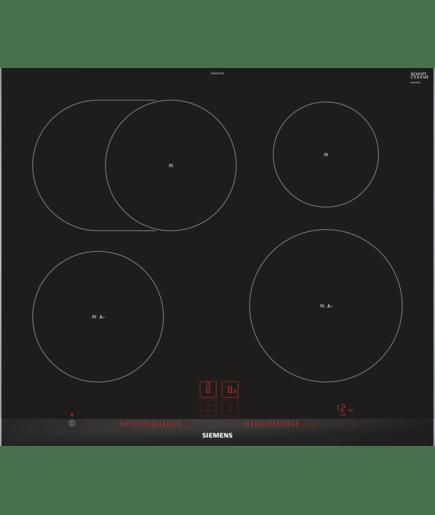 60 cm induktions kochfeld autark glaskeramik iq300 eh675lfc1e siemens. Black Bedroom Furniture Sets. Home Design Ideas