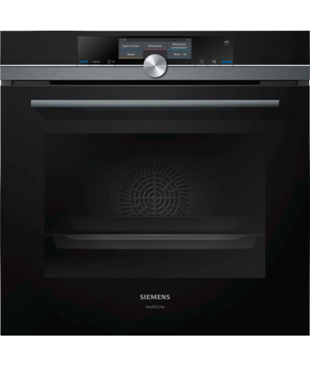 Single Oven With Microwave Amp Pulsesteam Hn878g4b6b Black