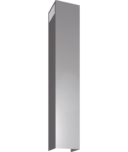 Chimney extension 1500 mm stainless steel lz12350 siemens for Schuhkipper tiefe 20 cm