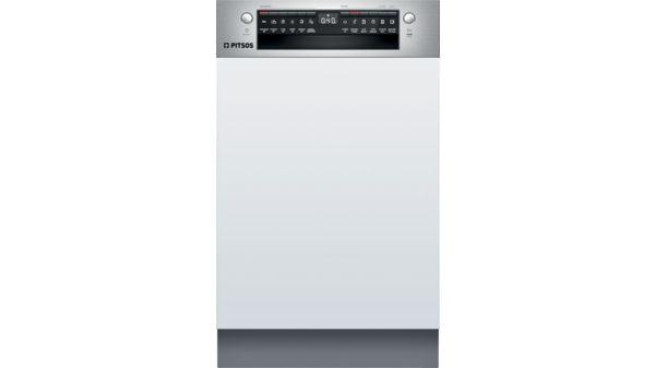 Εντοιχιζόμενο πλυντήριο πιάτων με εμφανή μετόπη 45 cm ανοξείδωτο ατσάλι DIS60I00 DIS60I00-1