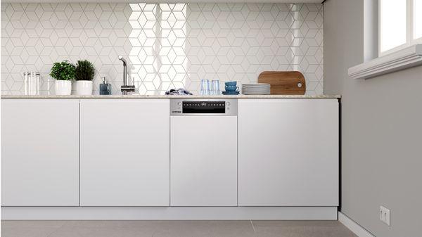 Εντοιχιζόμενο πλυντήριο πιάτων με εμφανή μετόπη 45 cm ανοξείδωτο ατσάλι DIS60I00 DIS60I00-2