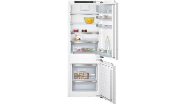 Kühlschrank Kombi : Einbau kühl gefrier kombination flachscharnier technik softeinzug