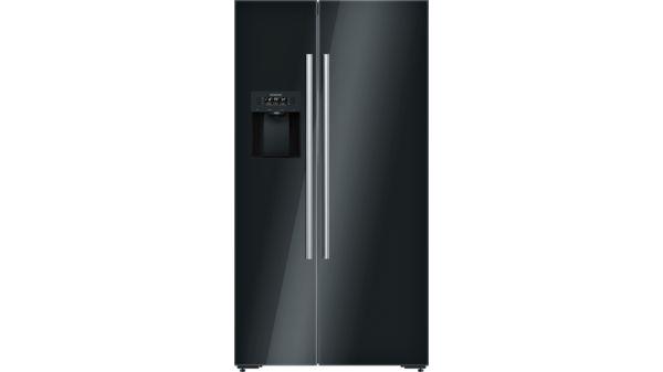 Siemens Kühlschrank Groß : Kühl gefrier kombination side by side türen schwarz iq700