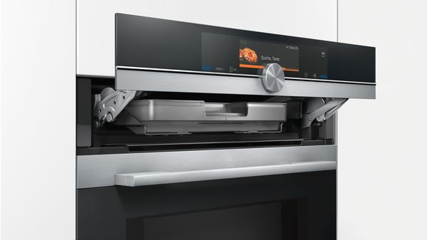 TFT-TouchDisplay Plus - Combi-microgolfoven met pulseSteam Home Connect - 15 verwarmingswijzen - 900 W microgolf - activeClean - cookControl Plus - LED - tel.rail 1 niv.