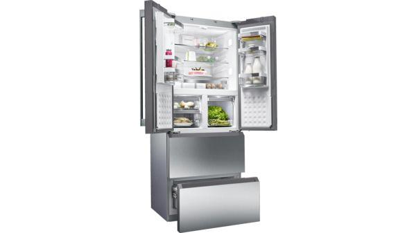 Kühlschrank Xxl Edelstahl : Frenchdoor kühl gefrierkombination no frost türen edelstahl