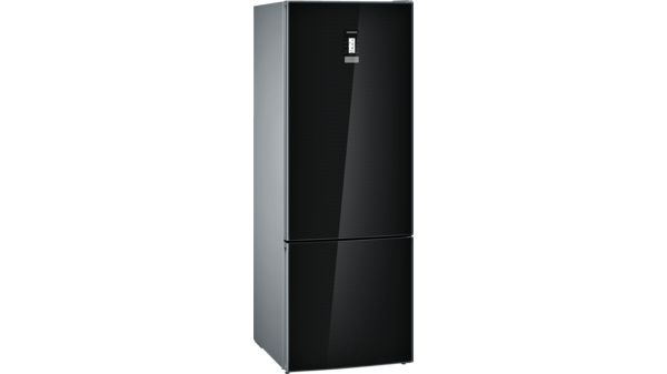 Siemens Kühlschrank Schwarz : Nofrost kühl gefrier kombination türen schwarz iq700 kg56fsb40