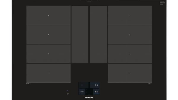 80 cm induktions kochfeld autark glaskeramik iq700 ex875kye1e siemens. Black Bedroom Furniture Sets. Home Design Ideas