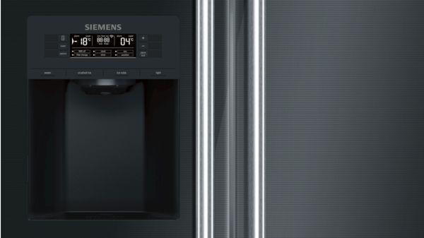 Side By Side Kühlschrank Transportieren : Kühl gefrier kombination side by side türen schwarz iq700