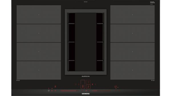 Kochstelle mit integriertem dunstabzug 80 cm induktions kochfeld