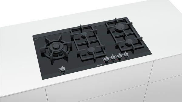 Piano Cottura A Gas Di 90 Cm Di Larghezza Vetroceramica Nero Iq700