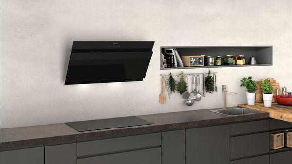 N 50 Wall-mounted cooker hood 90 cm clear glass black printed D95IHM1S0B D95IHM1S0B-2