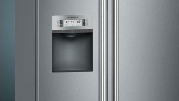 Side By Side Kühlschrank 4 Türen : Nofrost kühl gefrierkombination side by side türen edelstahl