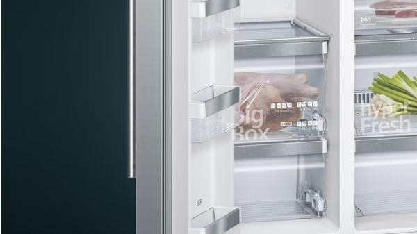 Side By Side Kühlschrank 85 Cm Breit : Nofrost kühl gefrierkombination side by side türen edelstahl