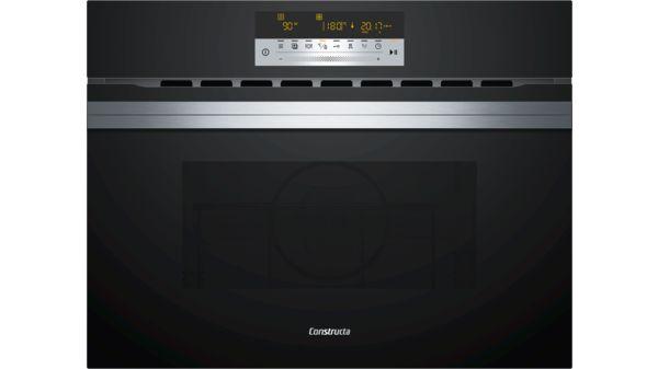 Einbau Mikrowelle Mit Heißluftfunktion Schwarz Cc4w91860 Constructa