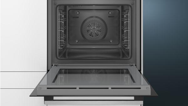iQ300 Εντοιχιζόμενος φούρνος 60 x 60 cm Ανοξείδωτο HB513ABR00 HB513ABR00-3