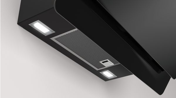 6d4efc9a9fa Campana decorativa diseño inclinado Serie Cristal Cristal negro ancho 60 cm  EAN: 4242006264420 3BC567GN-