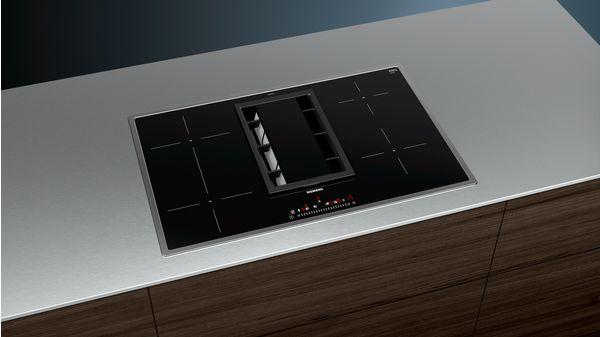 IQ500 Kochstelle Mit Integriertem Dunstabzug 80 Cm Induktions Kochfeld  Autark, Glaskeramik ED845FS11E 3