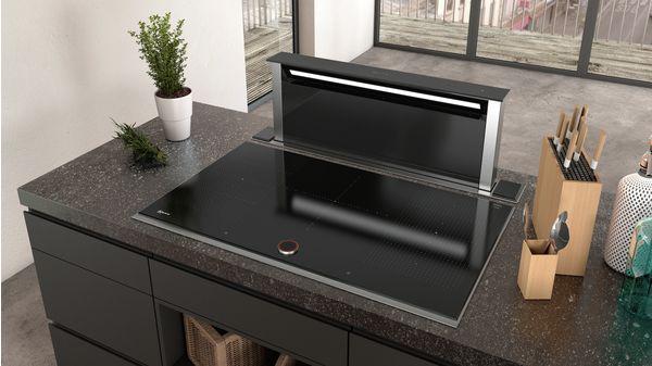 N 90 Downdraft hood 90 cm clear glass black printed D95DAP8N0B D95DAP8N0B-4