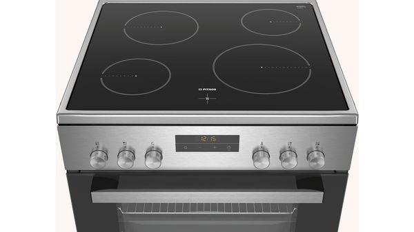Ελεύθερη κουζίνα με ηλεκτρικές εστίες Ανοξείδωτο PHN039150 PHN039150-2
