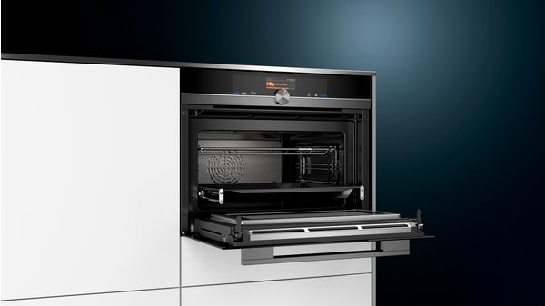 Iq700 Four Combi Micro Ondes Encastrable Compact Noir Cm836gpb6