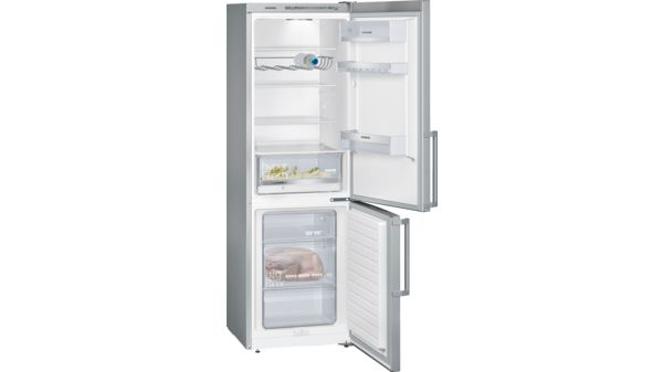 Siemens Kühlschrank Edelstahl : Kühl gefrier kombination türen edelstahl look iq300 kg36vel30