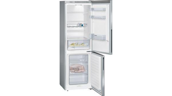 Kühlschrank Kombi : Kühl gefrier kombination türen edelstahl look iq kg vvl
