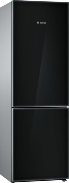Bosch B10CB81NVB, Free-standing fridge-freezer with freezer at bottom, glass door